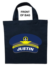 Pilot Trick or Treat Bag, Airline Pilot Halloween Bag, Pilot Loot Bag - $11.99+
