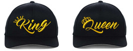 King & Queen NEW Design, 2 Flexfit, Couple Hats S/M, L/XL - $22.99