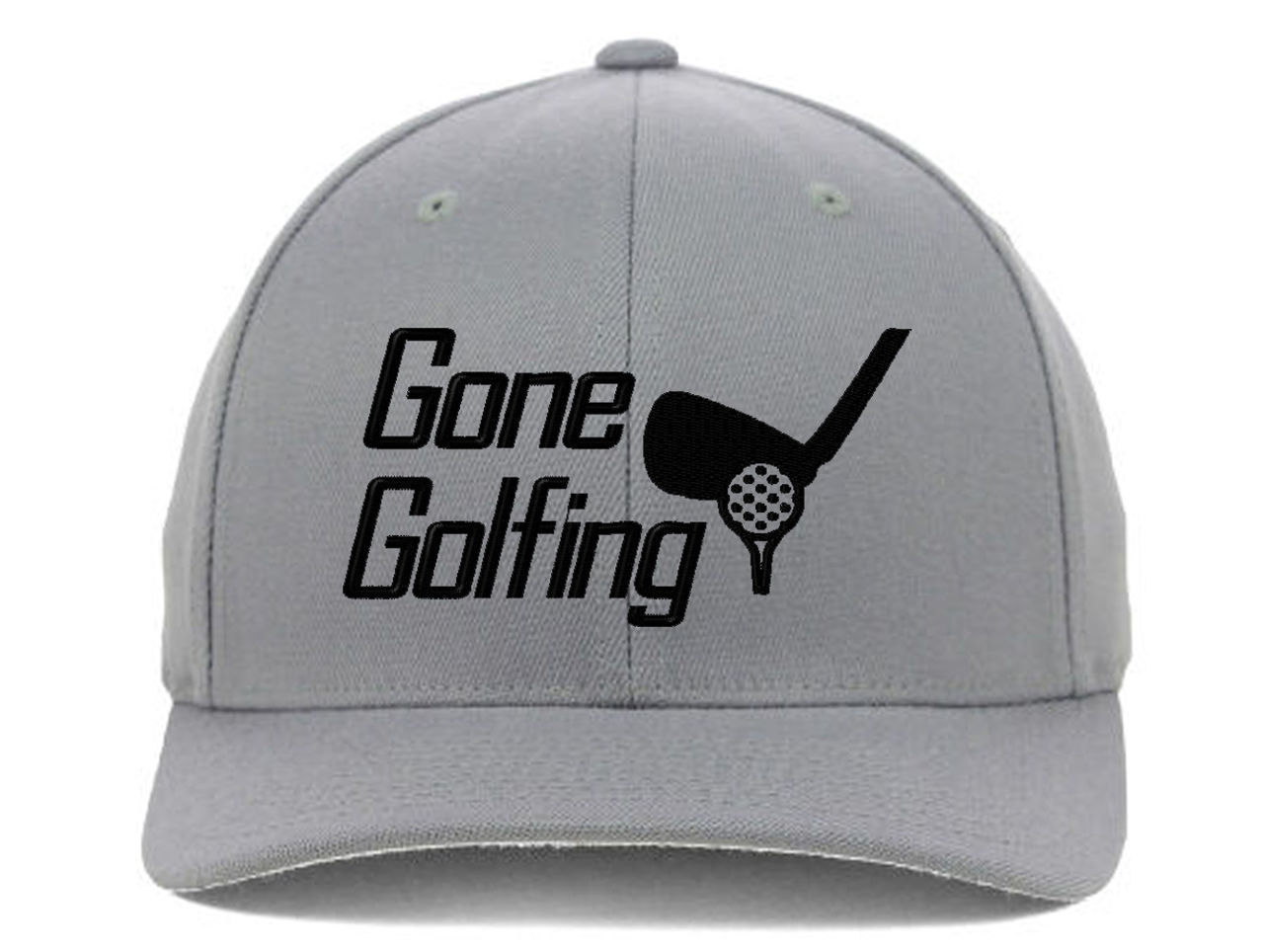 Gone Golfing, For Golfers with Best Club Embroidered, Flexfit Hats