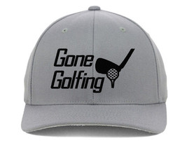 Gone Golfing, For Golfers with Best Club Embroidered, Flexfit Hats - $19.99