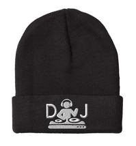 DJ Turntable, Embroidery Beanie - $14.99