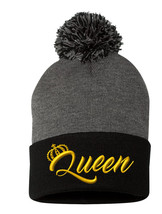 "QUEEN Only(New) Gold Yellow Thread, Pom Pom on Top, 12"" Long Beanie - $16.99"