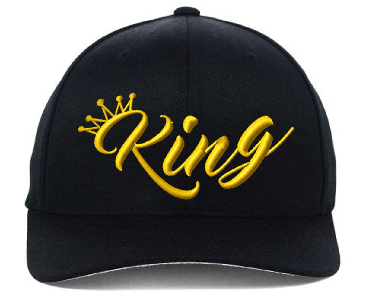 KING Only(New) Flexfit Gold Yellow Thread, Fine Finished Embroidery