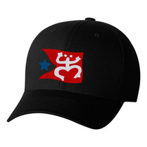 Taino Coqui Frog With Flag, Puerto Rico, PR National Symbol Flexfit Hats - $19.99