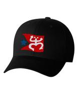 Taino Coqui Frog With Flag, Puerto Rico, PR National Symbol Flexfit Hats - $19.99