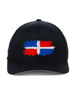 Dominican Republic Flag, Flexfit, Fine Finished Embroidery Hats - $19.99
