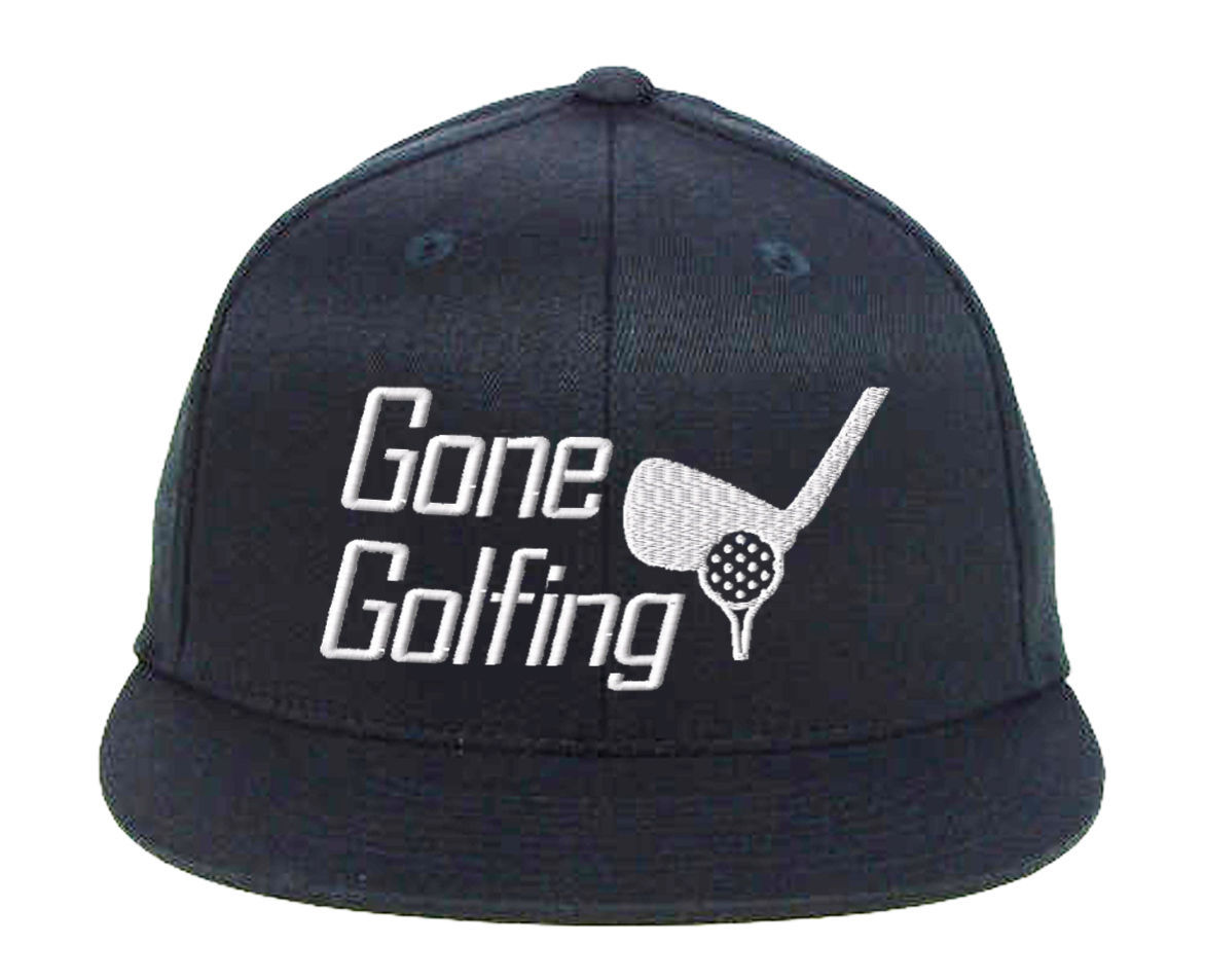 Gone Golfing, For Golfers with Best Club Embroidered, Snapback Hats