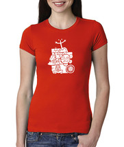 Puerto Rico Mix National Taino Symbols, Women Crew Neck Tshirt - $14.99