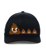 POO POOP FAMILY EMOJI, Flexfit Fine Finished Embroidery Hats - $19.99