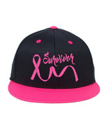 BREAST Cancer Ribbon Survivors Embroidered, Snapback Hats - $19.99