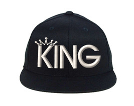 KING Snapback White Thread, Fine Finished Embroidery Cap - $19.99