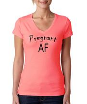 Pregnant AF (Aunt Flo) Funny Maternity, Women V-Neck Tshirt - $13.99+