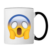 Afraid Feeling EMOJI, 11oz. Coffee Mug - £14.98 GBP