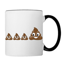 POO POOP Emoji Family, 11oz. Coffee Mug - £14.98 GBP