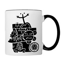 Puerto Rico Mix Taino Symbols,  11oz. Coffee Mug - £15.71 GBP