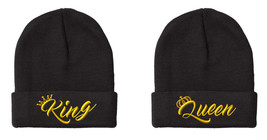 "King & Queen NEW Design, 2 Beanies, Couple Matching, 12"" Long Unfolded B... - $19.99"
