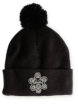 Puerto Rico TAINO SUN Symbol, Pom Pom on Top, 12 inch Long Unfolded Beanie - $16.99