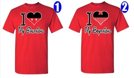 I Love My Boyfriend & Girlfriend, Disney Figure, Perfect Couple, 2 T-Shirts - $27.99