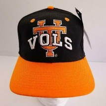 UT Tennessee Vols Black and Orange Embroidered Baseball Cap Hat Fitted Sz 7 New - $17.34