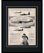 1951 Lockheed Aircrafts Framed 11x14 ORIGINAL Vintage Advertisement - $46.39