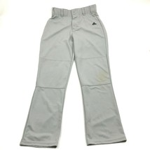 Adidas Climalite Uomo Grigio Baseball Pantaloni Taglia M Media Ventilata Gamba - $18.75