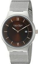 Caravelle New York Men's 45B138 Analog Display Quartz Silver Watch - £192.58 GBP