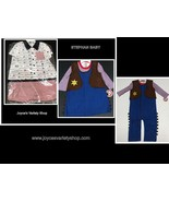 Stephan Baby 2 PC Outfit 100% Cotton 12-18 MOs Girl, Boy Western or Sail... - $8.99