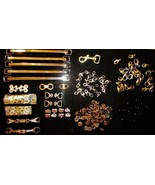 Big Lot of Jewelry Findings Lobster Claw Clasps Connectors Rivets Beads ... - $19.80