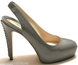 $790 Brian Atwood Shoes Milena Gray Patent Leat... - $187.11
