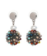 Unique Women's Colorful Bead Micro Pave Ball Drop Earring Gift Party Jew... - $25.90