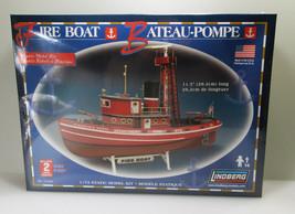 Lindberg Fire Boat Plastic Maritime Ship Model Kit 1/72 - NYC Fire Tug - $30.00