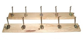Set Of 2 Wooden Hat and Coat Wall Racks - Brand New Factory Blems 10 Pol... - $20.65