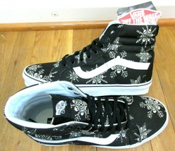 Vans Mens Sk8-Hi Reissue Van Doren Skull Snowflake shoes Black White Siz... - $85.02 CAD