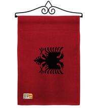 Albania Burlap - Impressions Decorative Metal Wall Hanger Garden Flag Se... - $33.97