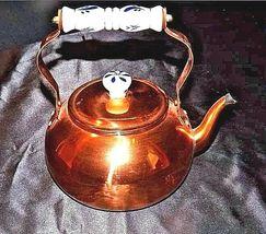 Copper Tea Kettle with Gooseneck Spout  AA18-1208 Vintage image 5