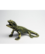 Lizard agama - statuette of bronze, metal figurine, lizard figurine - $9.00