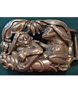 Rare Kieselstein-Cord Signed .925 Sterling Silver Monkey Large Belt Buck... - $1,977.25