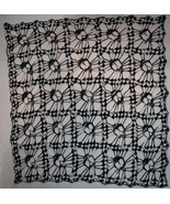 Hand Crochet Skull Afghan| Table Topper| Shawl Night Camo - $182.90