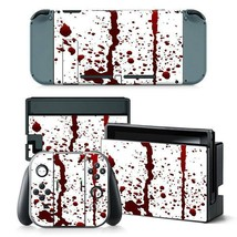 Nintendo Switch Console & Joy-Con Controller Bloody Vinyl Skin Decal Sti... - $13.83