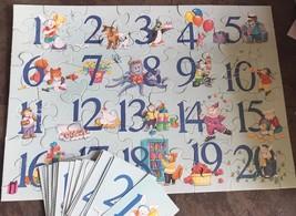 COMPLETE VINTAGE Springbok Puzzles Childrens Hallmark 48 pcs Number Fun ... - $5.89