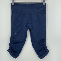 Lululemon绑腿女' s Size 4 Navy Blue 3/4 Length Cropped Tight Fit-$ 23.44