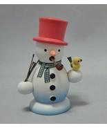 Erzgebirgische Germany Snowman Wood Smoker Incense Burner - $17.33