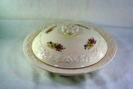 "Homer Laughlin Floral TH6 J47N5 Rimmed Round 9"" Covered Serving Bowl - $31.49"