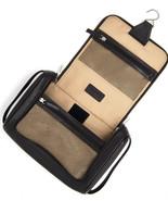 BOSCA Mens Tribeca Hanging Travel Toiletry Kit dark brown pebbled leathe... - $89.00