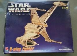 Model AMT ERTL Star Wars B-Wing Fighter Gold Ltd Edition 8780 Plastic Kit - $12.99