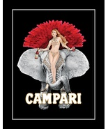 Campari Apertiff Liquor Poster, Sexy Bar Wall Art, Burlesque Elephant Wall Decor - $19.99 - $45.99