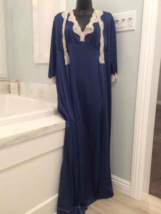 VINTAGE MAXI Blue NIGHTGOWN & ROBE - $49.00