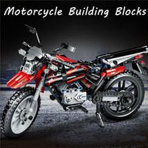 481pcs Motorcycle Building Blocks Set Toys Bricks Race Off-road Vehicle ... - $35.52