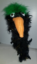 "C1* Deluxe Custom ""Sparkly Black & Green Crow / Bird""  Sock Puppet * Cus... - $10.00"