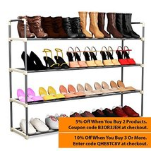 24 Pairs Shoe Rack Organizer Storage Bench Orga... - $40.06